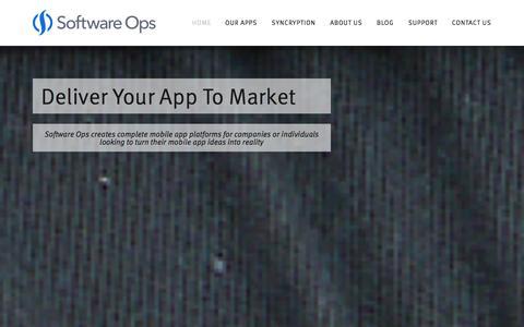 Screenshot of Home Page softwareops.com - Software Ops - captured Oct. 9, 2014