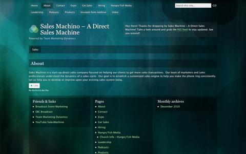 Screenshot of About Page wordpress.com - About | Sales Machino - A Direct Sales Machine - captured Sept. 12, 2014