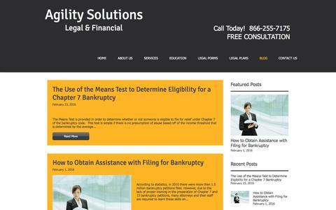 Screenshot of Blog agilitysvcs.com - estateplanning | BLOG - captured Dec. 26, 2016
