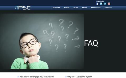 Screenshot of FAQ Page proservicescorp.com - FAQ - ProServices Corp. - captured Sept. 26, 2018