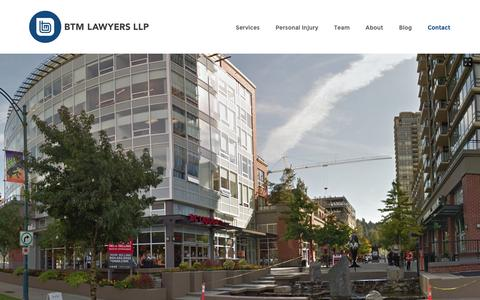 Screenshot of Contact Page btmlawyers.com - Contact - BTM Lawyers LLP - captured Feb. 7, 2016