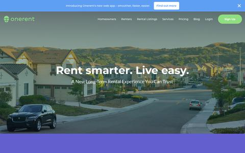 Onerent - Technology Enabled Property Management Services - Browse hundreds of rental listings in your area