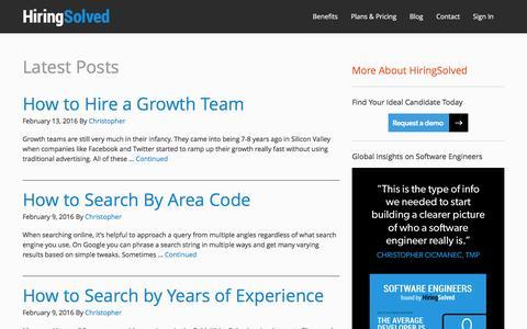Blog   HiringSolved