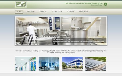 Screenshot of Home Page microcleangreen.com - Micro-Clean Green Technologies, Inc. | Clean by Nature - captured Oct. 6, 2014