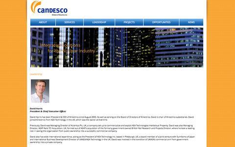 Screenshot of Team Page candesco.com - Leadership :: Candesco - captured Oct. 1, 2014