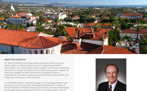 Screenshot of About Page sbaesthetics.com - About Us at SB Aesthetics | Santa Barbara Plastic Surgery | Dr. Sheffield - captured March 20, 2018
