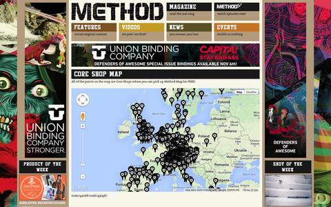 Screenshot of Maps & Directions Page methodmag.com - Core Shop Map | Methodmag.com - captured Oct. 27, 2014