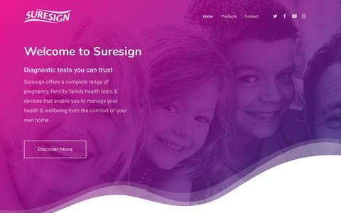 Screenshot of Home Page suresign.com - Suresign - captured Sept. 25, 2018