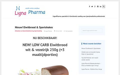 Screenshot of Blog lignapharma.be - Ligna Pharma - functional foods & functional foodprograms for your patients, LignaPharma is the foodpartner for (para-)medical professionals: slimming & weightcontrol, denutrition, diabetics type II, sport, weight loss surgery, quit to smoke, vegetar - captured July 19, 2018