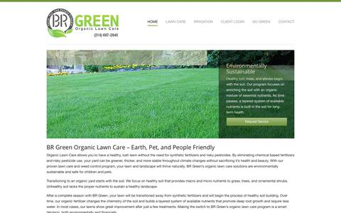 Screenshot of Home Page brgreenlawncare.com - Organic Lawn Fertilization and Weed Control Service | BR Green - captured Oct. 4, 2018
