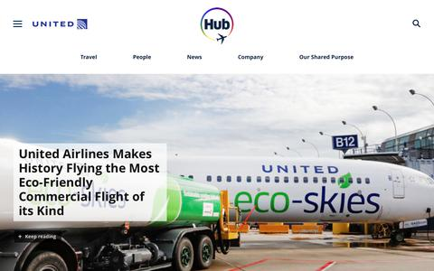 Screenshot of Press Page united.com - United Hub - Newsroom - captured June 29, 2019