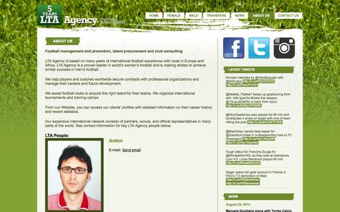 Screenshot of About Page lta-agency.com - About us – LTA Agency - captured Oct. 1, 2014