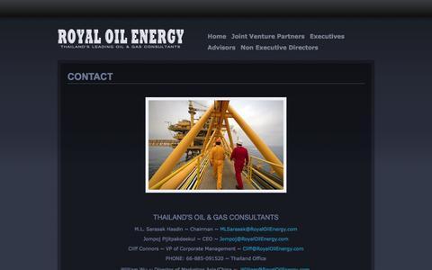 Screenshot of Contact Page royaloilenergy.com - CONTACT | ROYAL OIL ENERGY - captured Sept. 30, 2014