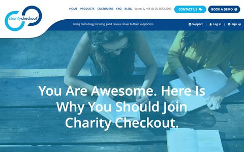 Screenshot of Jobs Page charitycheckout.co.uk - Careers - Charity Checkout - captured Sept. 27, 2018