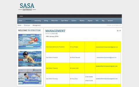 Screenshot of Team Page sasaeastdistrict.org.uk - Management - captured Oct. 30, 2018