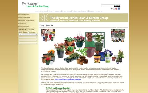 Screenshot of About Page myerslawnandgarden.com - Myers Lawn & Garden - About Us - captured Oct. 7, 2014