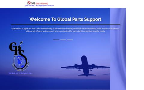 Screenshot of Home Page About Page Contact Page Products Page Team Page globalpartssupport.com - Home - captured Nov. 8, 2016