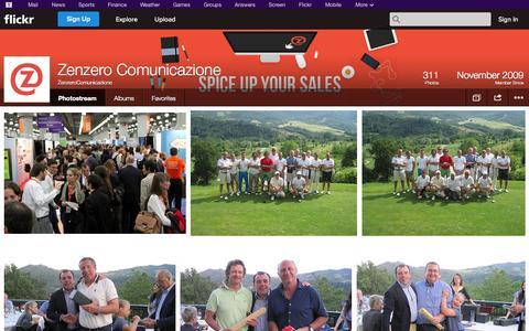 Screenshot of Flickr Page flickr.com - Flickr: ZenzeroComunicazione's Photostream - captured Oct. 27, 2014