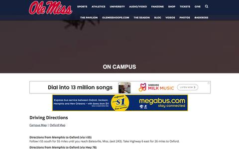 Screenshot of Maps & Directions Page olemisssports.com - OleMissSports.com  - Ole Miss Rebels Official Athletic Site - captured Jan. 16, 2016