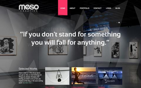 Screenshot of Home Page mesocreative.com - The Digital Branding Agency | Meso Creative - captured Sept. 6, 2015