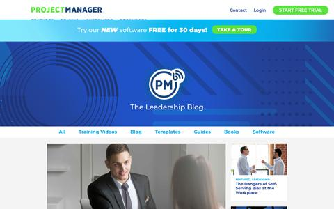 Screenshot of Team Page projectmanager.com - Read Project Leadership Blog Posts - ProjectManager.com - captured May 8, 2019