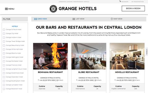 Bars & Restaurants in Central London | Hotel Dining London