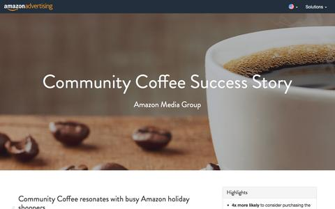 Screenshot of Case Studies Page amazon.com - Amazon Advertising - captured Nov. 4, 2016