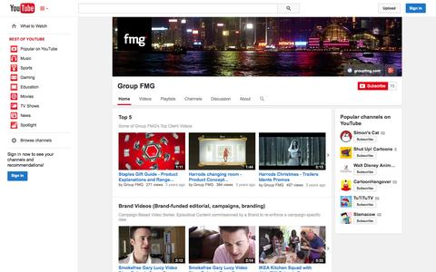 Screenshot of YouTube Page youtube.com - Group FMG  - YouTube - captured Oct. 22, 2014