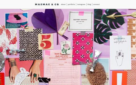 Screenshot of Home Page maemaeco.com - MaeMae & Co. - captured Nov. 21, 2015