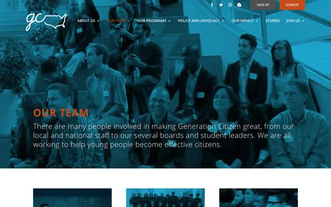 Screenshot of Team Page generationcitizen.org - OUR TEAM | Generation Citizen - captured July 17, 2018