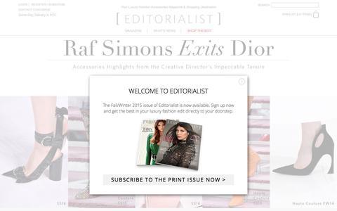 Screenshot of Home Page editorialist.com - Editorialist | Luxury Fashion Accessories Magazine & Online Store - captured Oct. 22, 2015