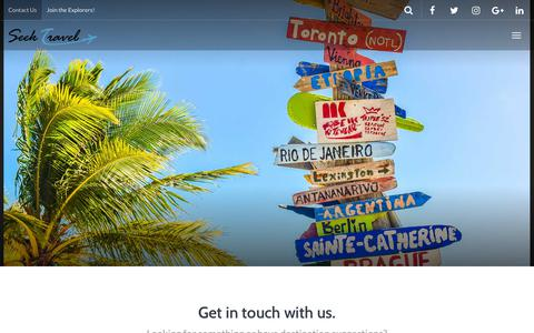Screenshot of Contact Page seektravel.com.au - Contact Us | Seek Travel - captured July 25, 2018