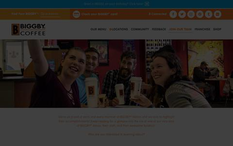 Screenshot of Team Page biggby.com - BIGGBY® COFFEE Our Team- Meet our Baristas, Owners, Operators and more - captured Nov. 9, 2019