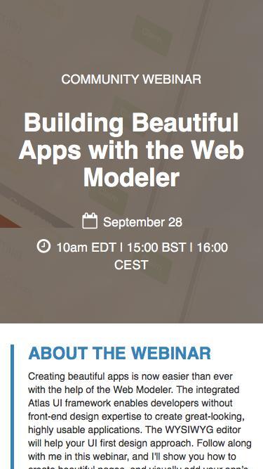 Building Beautiful Apps with the Web Modeler - Mendix Community Webinar