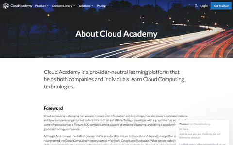 About Cloud Academy