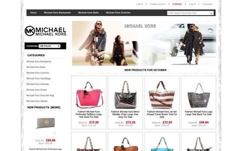 Screenshot of Home Page skms.co.uk - Michael Kors Handbags Outlet Store - Skms.co.uk - Belts,Clutches,Handbags,Shoes & Wallets - captured Oct. 1, 2018