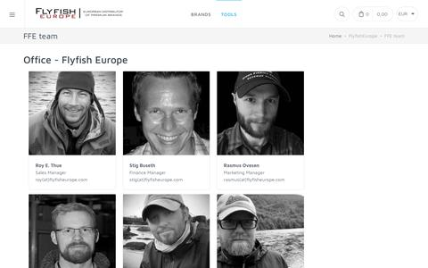 Screenshot of Contact Page Team Page flyfisheurope.com - FFE team : Flyfish Europe AS - captured Oct. 10, 2018