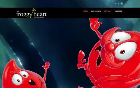 Screenshot of Home Page froggyheart.com - FroggyHeart Animation Studio | FroggyHeart Animation Studio - captured Sept. 26, 2014