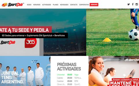 Screenshot of Home Page sportclub.com.ar - SportClub - Clubes y Gimnasios - captured Dec. 12, 2018