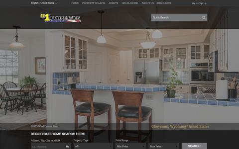 Screenshot of Home Page cheyennehomes.com - #1 Properties - captured Sept. 4, 2015