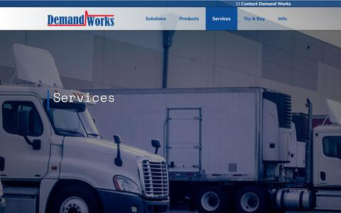 Screenshot of Services Page demandworks.com - Services - Demand Works Co. - captured July 9, 2017