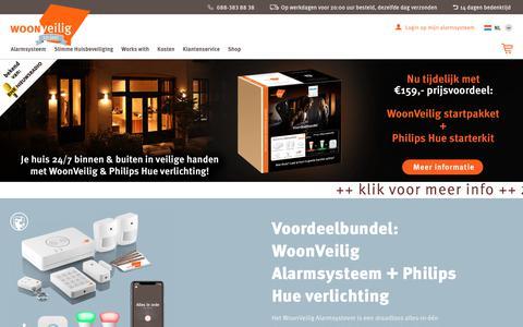 Screenshot of Home Page woonveilig.nl - Alarm aanschaffen - het huis slim beveiligd | WoonVeilig - captured Nov. 8, 2018