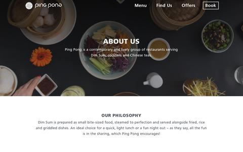Screenshot of About Page pingpongdimsum.com - About | ping pong - captured July 18, 2018