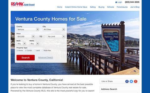 Screenshot of Home Page ventura-county-relocation.com - Ventura County Real Estate - Search Ventura County Homes for Sale - Ventura MLS - captured Sept. 4, 2015
