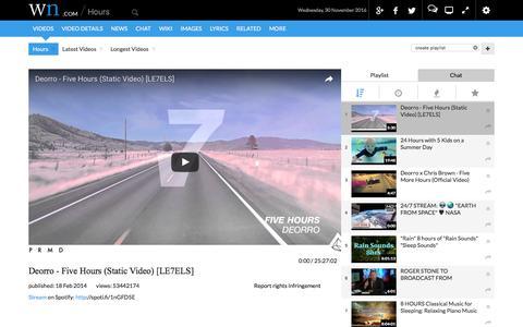 Screenshot of Hours Page wn.com - Hours - captured Nov. 30, 2016