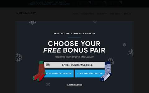 Screenshot of FAQ Page nicelaundry.com - FAQ | NICE LAUNDRY - captured Dec. 3, 2015