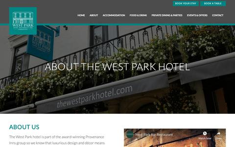 Screenshot of About Page thewestparkhotel.com - About | Read about the West Park Hotel and Restaurant Harrogate - captured Oct. 24, 2018
