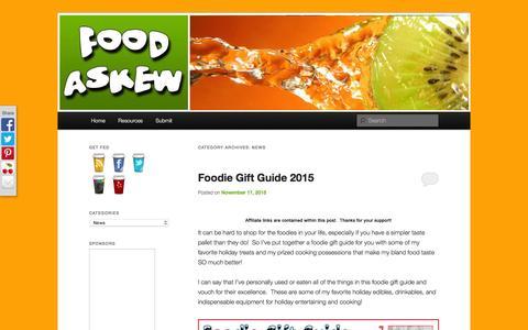 Screenshot of Press Page foodaskew.net - News Archives - FoodAskewFoodAskew - captured March 5, 2016