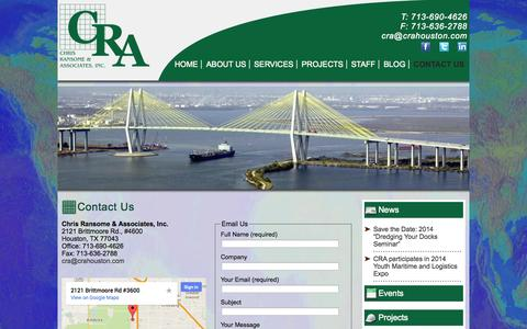 Screenshot of Contact Page crahouston.com - Contact Us | CRA Houston - captured Oct. 2, 2014