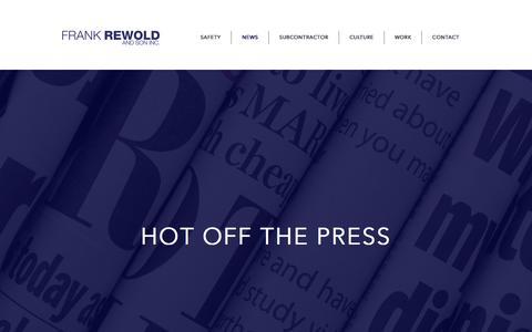 Screenshot of Press Page frankrewold.com - frank-rewold-and-son   NEWS - captured Nov. 25, 2016